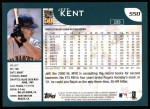 2001 Topps #550  Jeff Kent  Back Thumbnail
