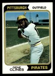 1974 Topps #172  Gene Clines  Front Thumbnail