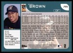 2001 Topps #715  Emil Brown  Back Thumbnail