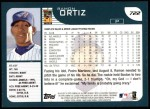 2001 Topps #722  Ramon Ortiz  Back Thumbnail