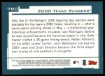 2001 Topps #780   Texas Rangers Team Back Thumbnail