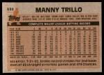1983 Topps #535  Manny Trillo  Back Thumbnail