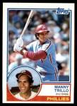 1983 Topps #535  Manny Trillo  Front Thumbnail