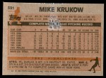 1983 Topps #331  Mike Krukow  Back Thumbnail