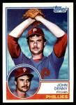 1983 Topps #211  John Denny  Front Thumbnail