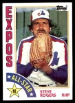 1984 Topps #394   -  Steve Rogers All-Star Front Thumbnail