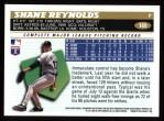 1996 Topps #169  Shane Reynolds  Back Thumbnail