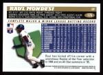 1996 Topps #175  Raul Mondesi  Back Thumbnail