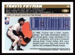 1996 Topps #190  Travis Fryman  Back Thumbnail