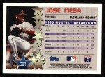 1996 Topps #231   -  Jose Mesa Star Power Back Thumbnail
