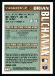 1996 Topps #245  Brian Buchanan  Back Thumbnail