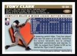 1996 Topps #337  Tony Clark  Back Thumbnail