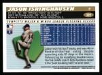 1996 Topps #369  Jason Isringhausen  Back Thumbnail