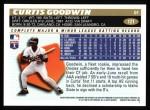 1996 Topps #121  Curtis Goodwin  Back Thumbnail