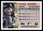 1996 Topps #225   -  Wade Boggs Star Power Back Thumbnail