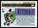 1996 Topps #265  Orlando Merced  Back Thumbnail