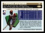 1996 Topps #283  Thomas Howard  Back Thumbnail