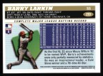 1996 Topps #293  Barry Larkin  Back Thumbnail