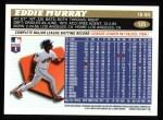 1996 Topps #125  Eddie Murray  Back Thumbnail
