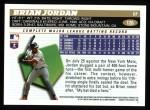 1996 Topps #126  Brian Jordan  Back Thumbnail