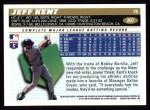 1996 Topps #207  Jeff Kent  Back Thumbnail