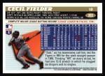 1996 Topps #393  Cecil Fielder  Back Thumbnail