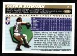 1996 Topps #410  Glenn Dishman  Back Thumbnail