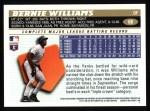 1996 Topps #68  Bernie Williams  Back Thumbnail