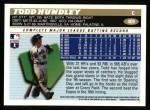 1996 Topps #409  Todd Hundley  Back Thumbnail