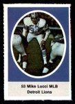 1972 Sunoco Stamps  Mike Lucci  Front Thumbnail