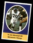 1972 Sunoco Stamps  Jim Marshall  Front Thumbnail