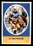 1972 Sunoco Stamps  John Hadl  Front Thumbnail