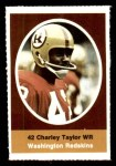 1972 Sunoco Stamps  Charley Taylor  Front Thumbnail