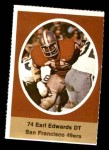 1972 Sunoco Stamps  Earl Edwards  Front Thumbnail