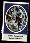 1972 Sunoco Stamps  Mel Renfro  Front Thumbnail