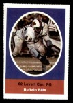 1972 Sunoco Stamps  Levert Carr  Front Thumbnail