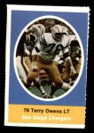 1972 Sunoco Stamps  Terry Owens  Front Thumbnail