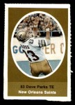 1972 Sunoco Stamps  Dave Parks  Front Thumbnail