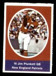 1972 Sunoco Stamps  Jim Plunkett  Front Thumbnail