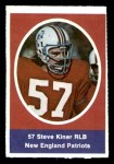 1972 Sunoco Stamps  Steve Kiner  Front Thumbnail