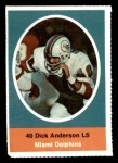 1972 Sunoco Stamps  Dick Anderson  Front Thumbnail