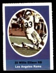 1972 Sunoco Stamps  Willie Ellison  Front Thumbnail