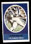 1972 Sunoco Stamps  Phil Olsen  Front Thumbnail