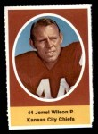 1972 Sunoco Stamps  Jerrel Wilson  Front Thumbnail