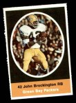 1972 Sunoco Stamps  John Brockington  Front Thumbnail