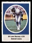 1972 Sunoco Stamps  Lem Barney  Front Thumbnail