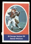 1972 Sunoco Stamps  George Saimes  Front Thumbnail