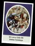 1972 Sunoco Stamps  Larry Cole  Front Thumbnail