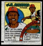 1979 Topps Comics #23  J.R. Richard  Front Thumbnail