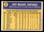 1970 Topps #481  Jose Tartabull  Back Thumbnail